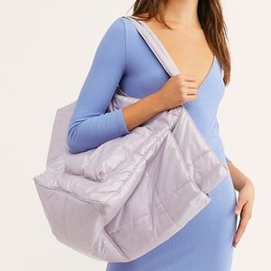 FREE PEOPLE Oversized Lilac Puffer Tote